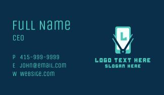 Smartphone Lettermark Business Card