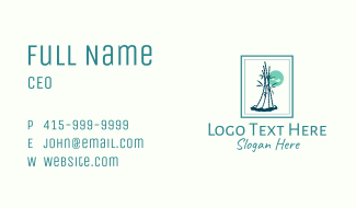 Bamboo Plant Frame Business Card