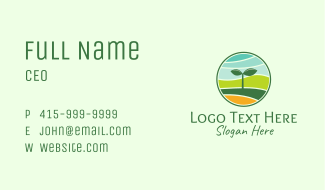 Organic Seedling Sprout Business Card