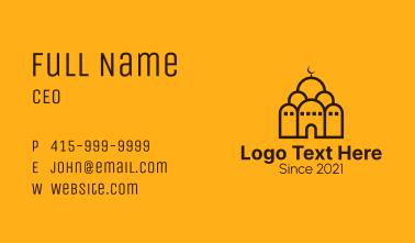 Muslim Spiritual Mosque Business Card