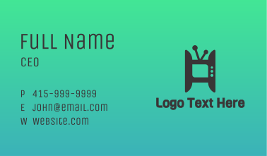 H Media TV Channel Business Card