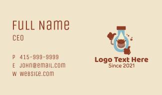 Cow Milk Bottle Business Card