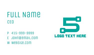 Modern Tech Number 5 Business Card