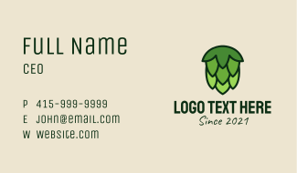 Green Hops Plant  Business Card
