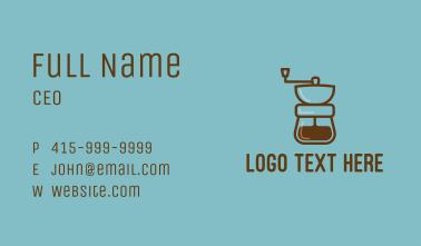 Coffee Maker Line Art Business Card