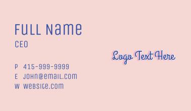 Script Pastel Wordmark Business Card