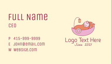 Baby Nursery Cradle  Business Card