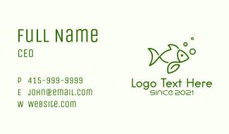 Organic Fish Farm Business Card