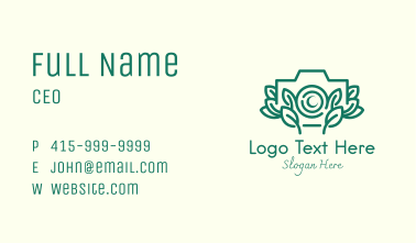 Nature Leaves Camer Business Card
