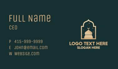 Muslim Mosque Window Business Card