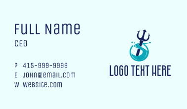 Trident Ocean Wave  Business Card