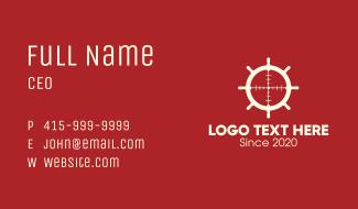 Steering Wheel Target Business Card