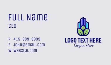 Eco Property Realtor Business Card