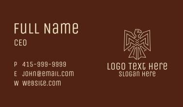 Minimalist Tribal Eagle  Business Card