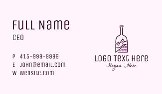 Mountain Peak Bottle Business Card