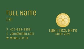 Clover Leaf Coin  Business Card