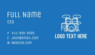 Minimalist Drum Set  Business Card