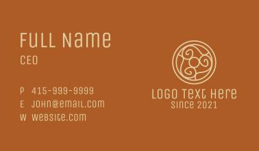 Viking Shield Line Art  Business Card