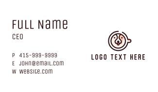 Dog Cafe Coffee Business Card