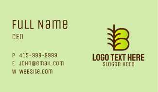 Natural Letter B  Business Card