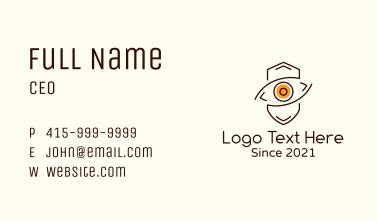 Minimalist Eye Shield Business Card