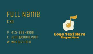 Egg Yolk Music Note Business Card