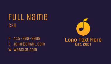Lemon Music Note  Business Card