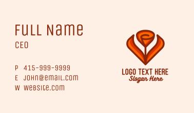 Orange Tulip Flower  Business Card