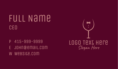 Elegant Winery Glass Business Card