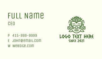 Nature Mayan Mask Business Card