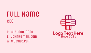 Red Health Cross Business Card