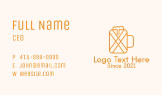Orange Beer Mug Business Card