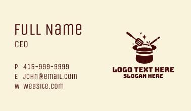 Magic Culinary Hat Business Card