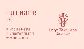 Swirly Liquor Bottle Business Card