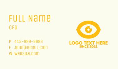 Gold Lemon Eye Business Card