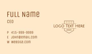Natural Coffee Wordmark Business Card