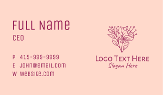 Daffodil Flower Blooming Business Card