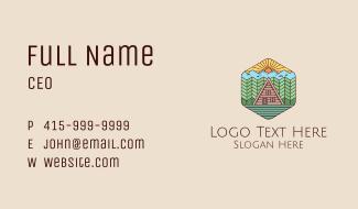 Rural Cabin Villa Business Card