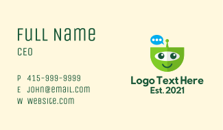 Chat Bot Mascot  Business Card