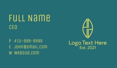 Monoline Letter H Surfboard  Business Card