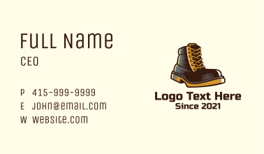 Leather Boots Footwear Business Card