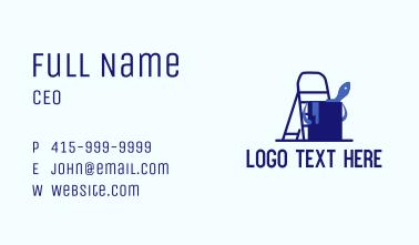 Ladder Paint Bucket Business Card