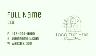 Minimalist Nature Woman Business Card