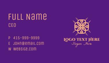 Ornamental Arabic Pattern Business Card