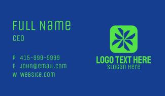 Geometric Tech App Business Card