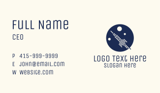 Rocket Launch Circle Business Card
