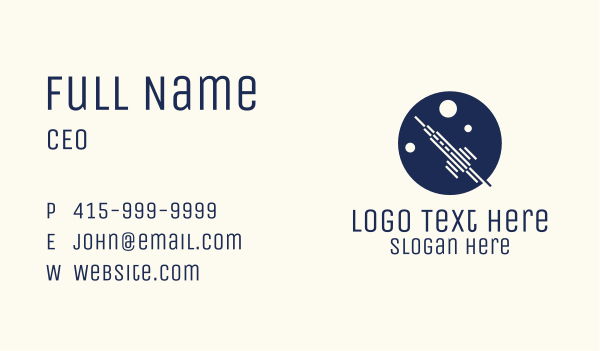 expedition - Rocket Launch Circle Business card horizontal design