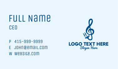 Clean Music Squeegee Business Card