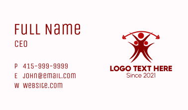 People Gym Dumbbell Business Card