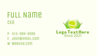 Tennis Ball Lawn Care  Business Card